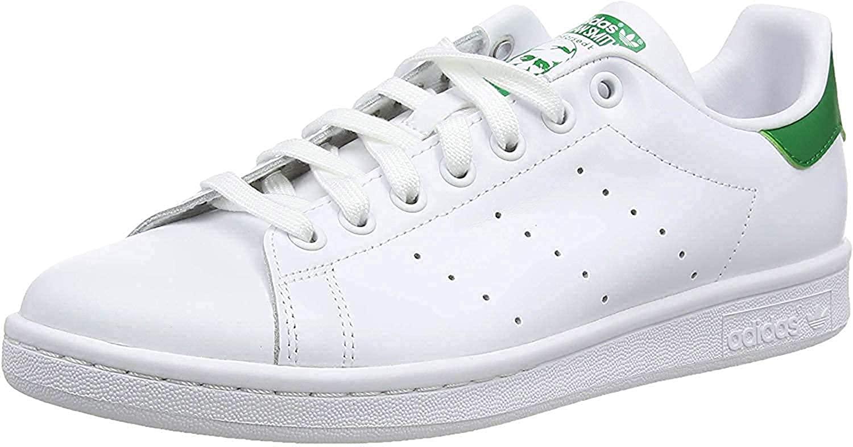 Adidas stan smith white and green sneaker