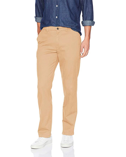 amazon essentials khakis, beige Khaki Pants for men