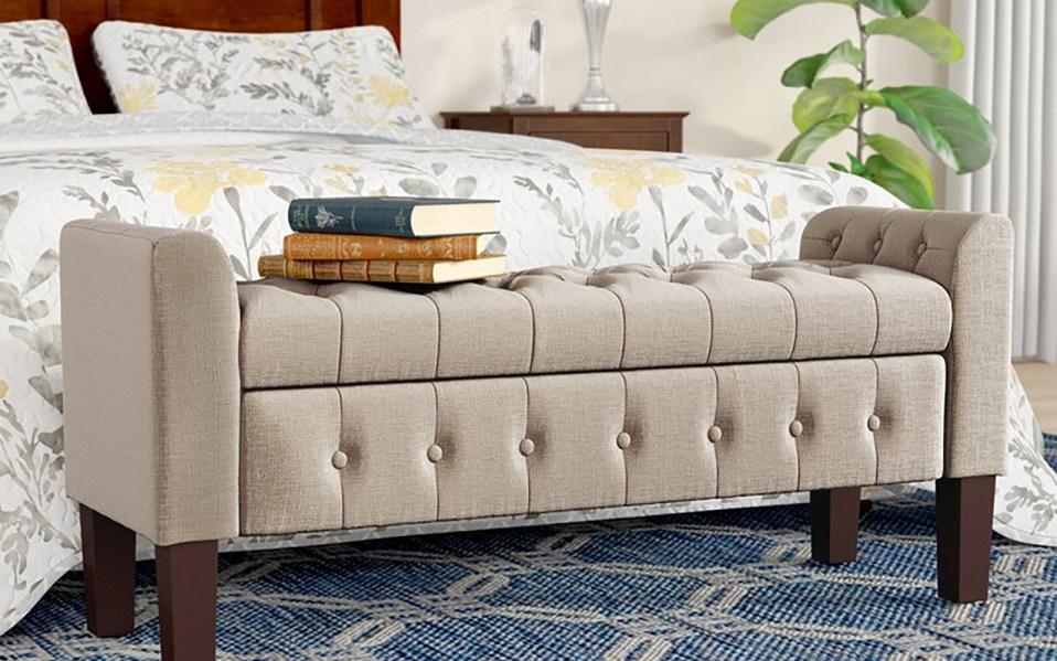 bedroom storage bench