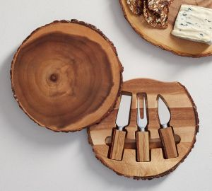 acacia wood cheese knife set, cheese knife set