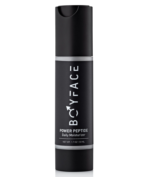 BoyFace Power Peptide Daily Moisturizer, grooming products for black men