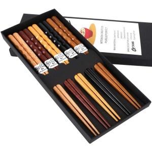 MFJUNS 5-Pairs Set of Chopsticks