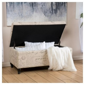 Christopher Knight Home french upholstery ottoman, bedroom storage bench