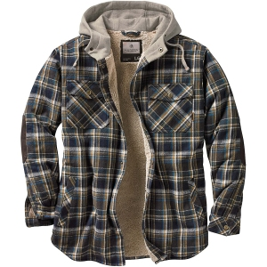 Legendary Whitetails Hooded Flannel Shirt Jacket