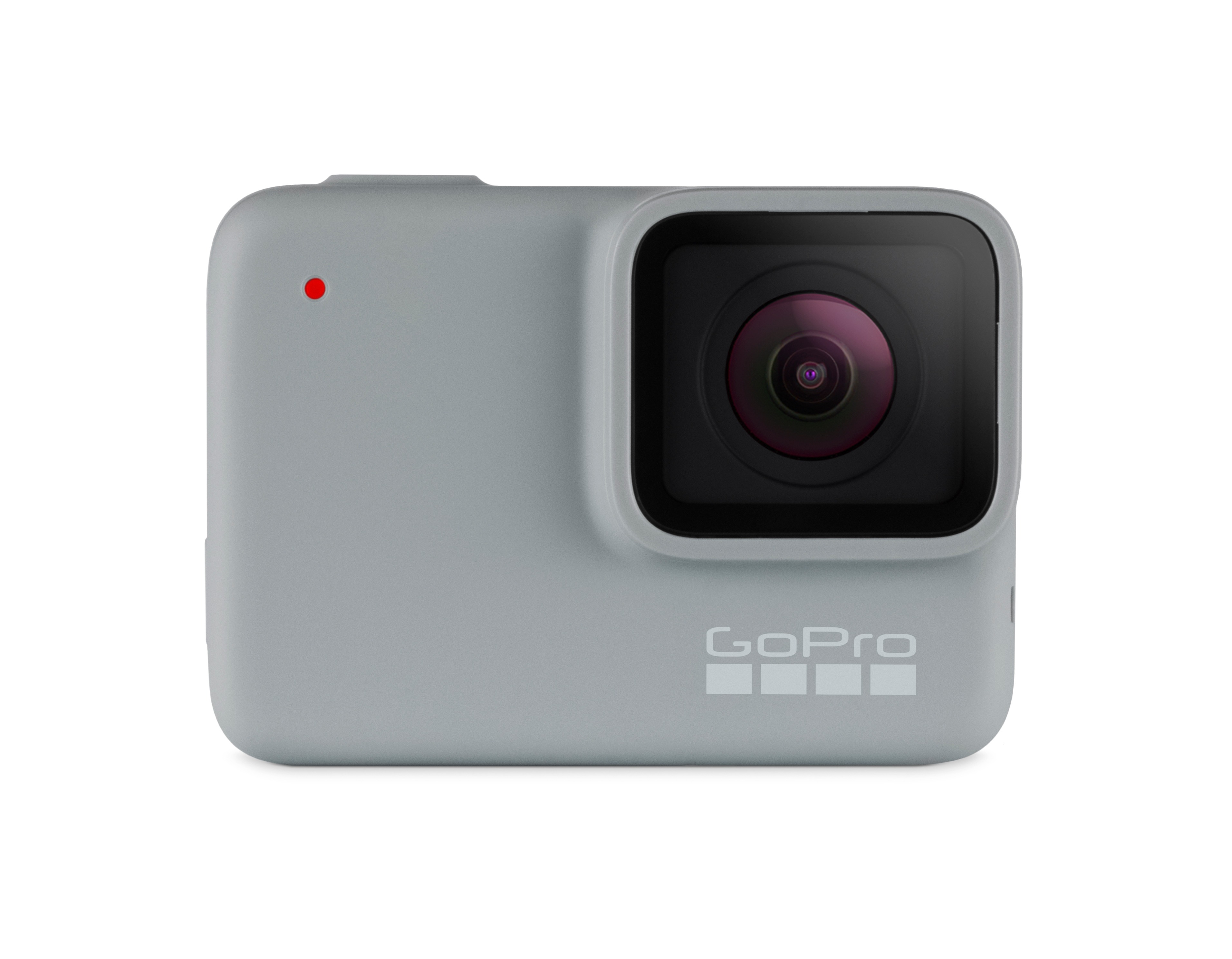 gray GoPro camera with black lens