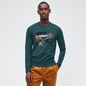 Bonobos Merino Frog Crew Neck Sweater