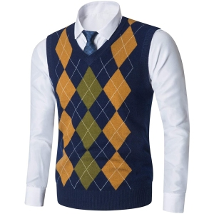 Yingqible Casual V-Neck Sweater Vest