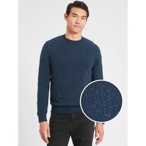 Banana Republic Nep-Speckled Crew-Neck Sweater