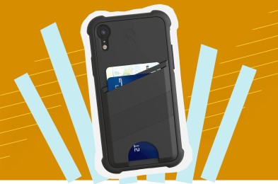 The Ridge Shockproof Card Case for iPhone XR