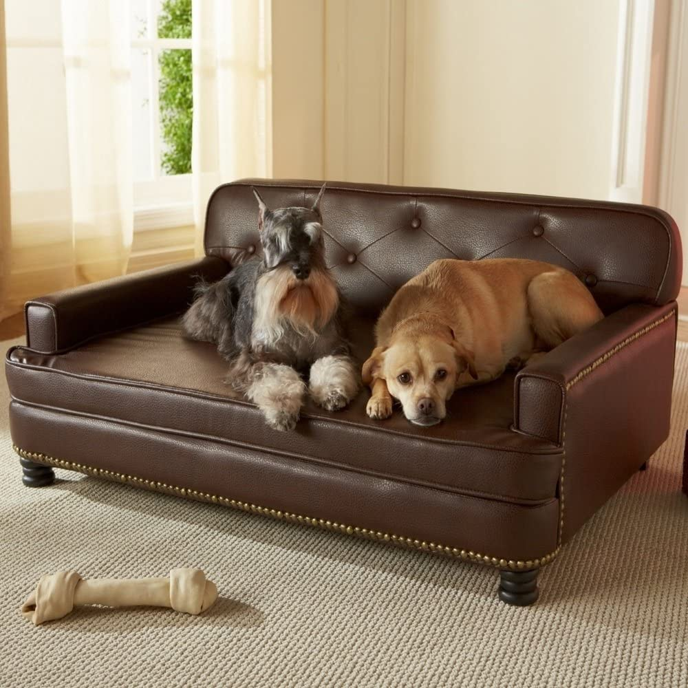 enchanted homes leather pet sofas, best dog beds