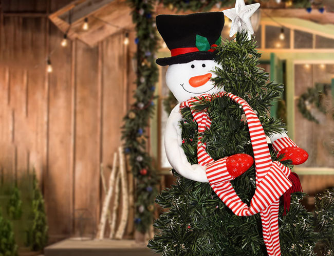 Snowman christmas tree topper featured image