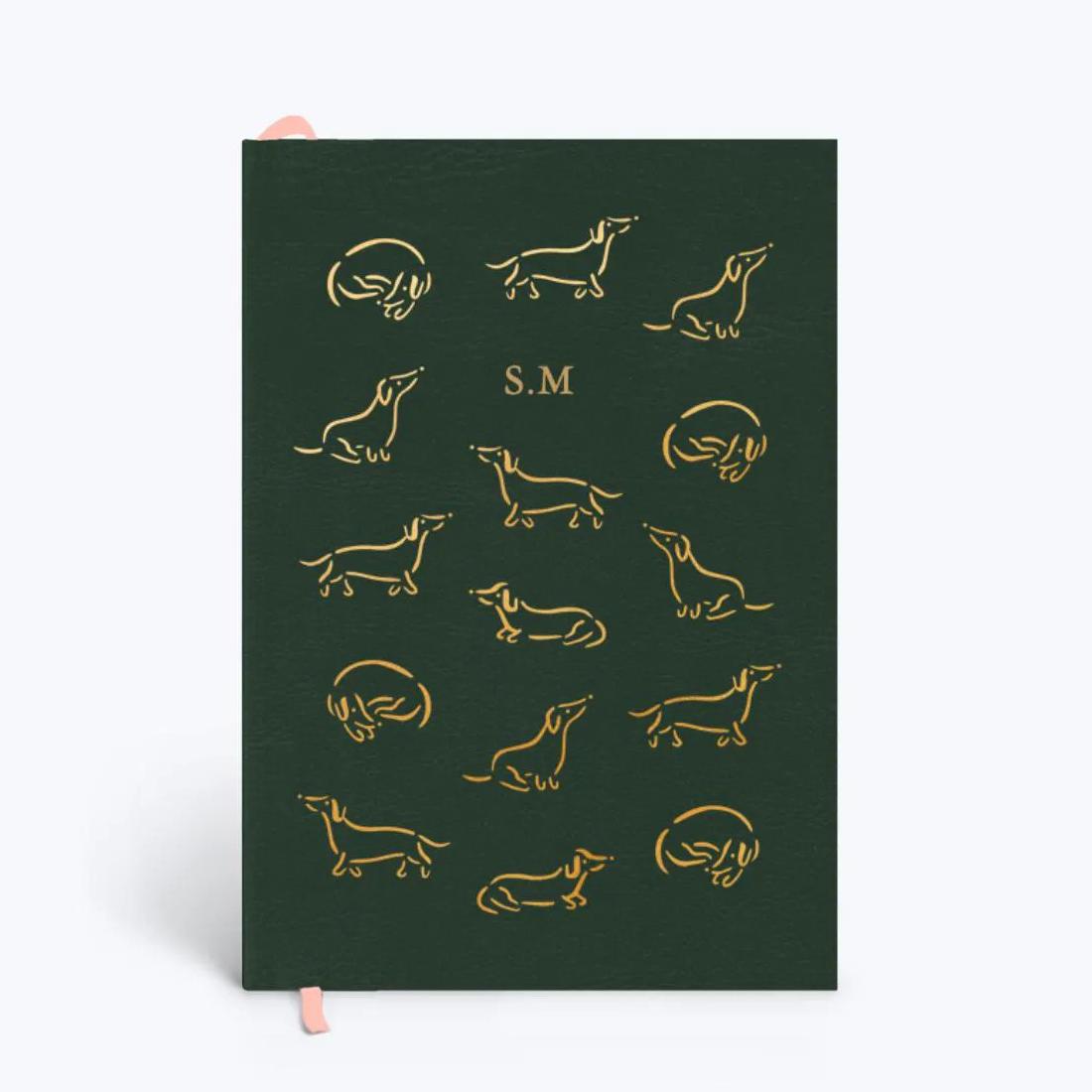 Papier Dachshund Leather Notebook