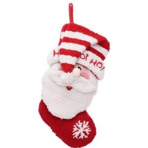 glitzhome ho ho 3d santa stocking