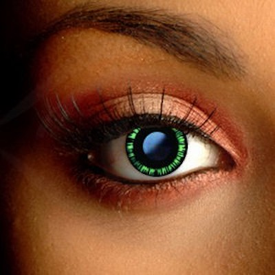Spooky Eyes Green Manga Contact Lenses