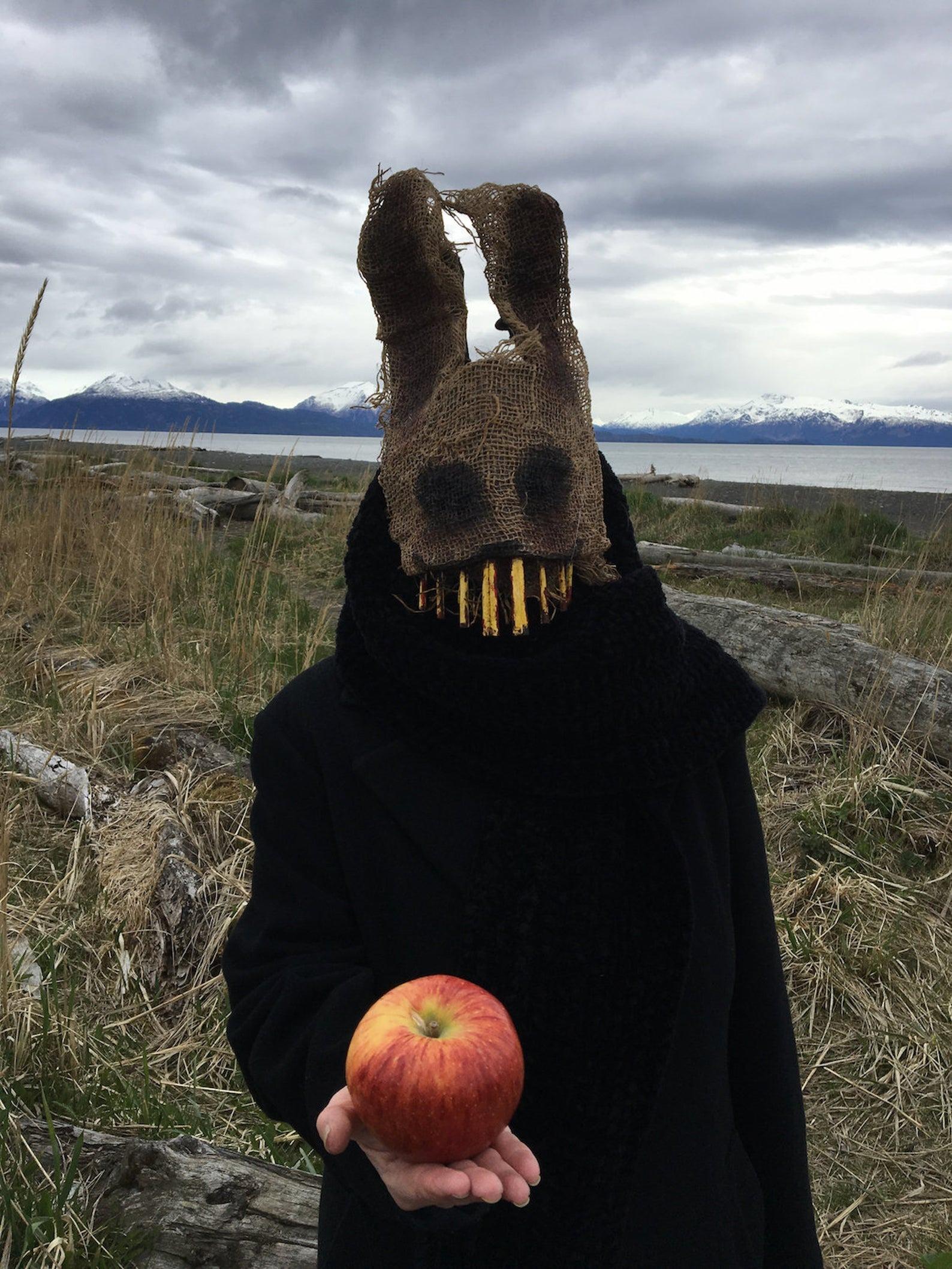 Crooked Crow Masks Scary Rabbit Mask