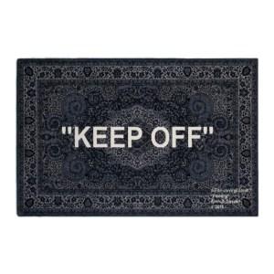 "Off White/IKEA ""KEEP OFF"" Rug"