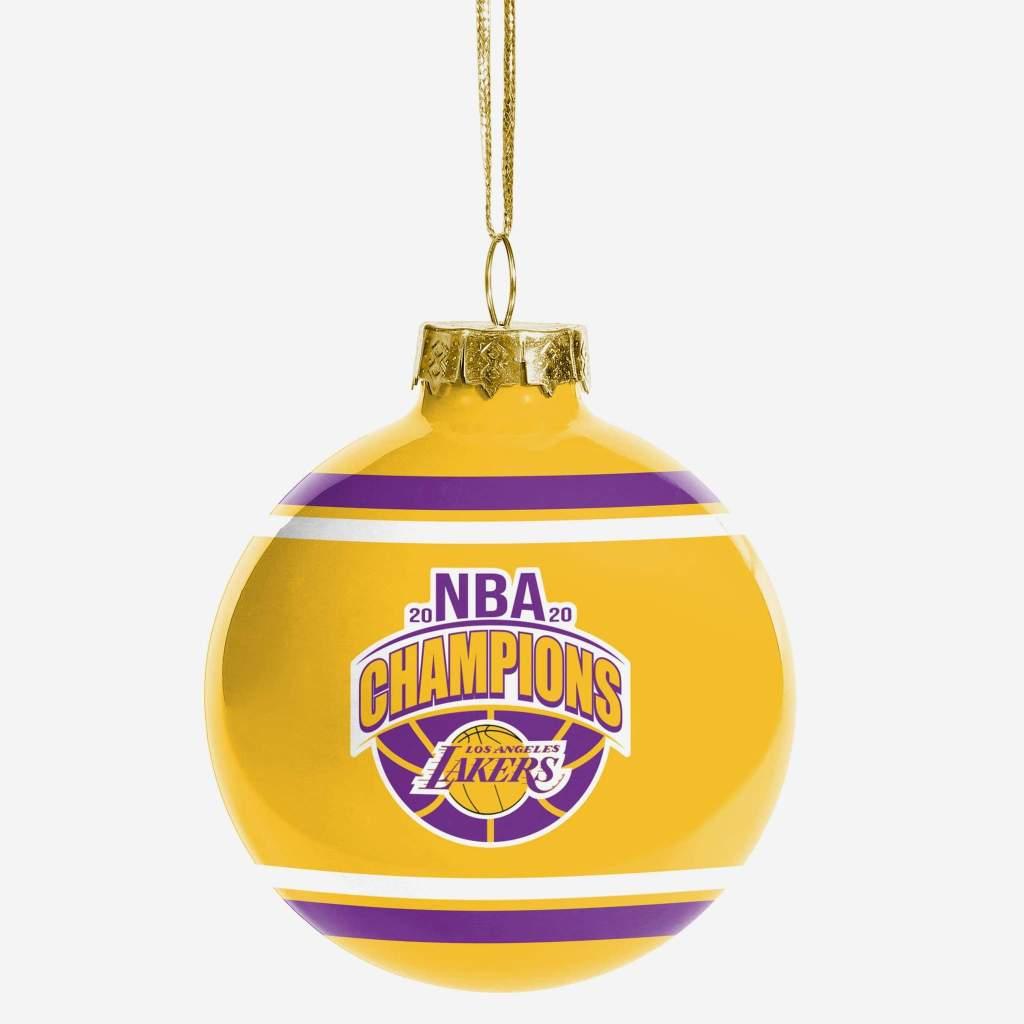 Los Angeles Lakers 2020 NBA Champions Glass Ball Ornament