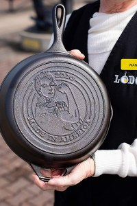Lodge Rosie the Riveter Cast Iron Skillet