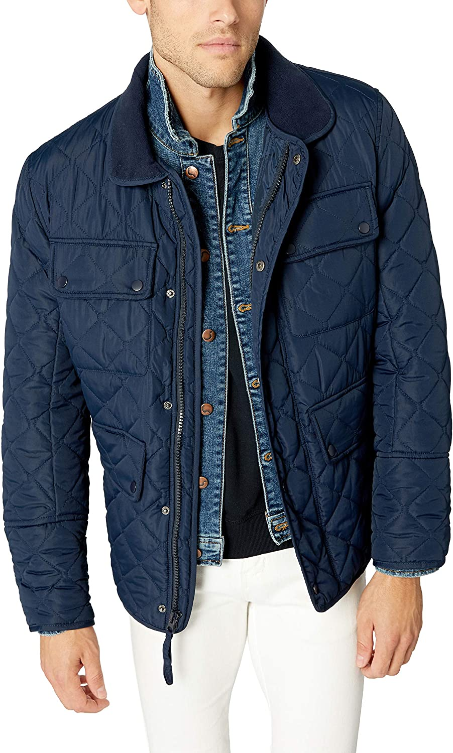 marc ny by andrew marc blue quilted jacket