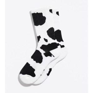 Cow Print Sport Crew Sock