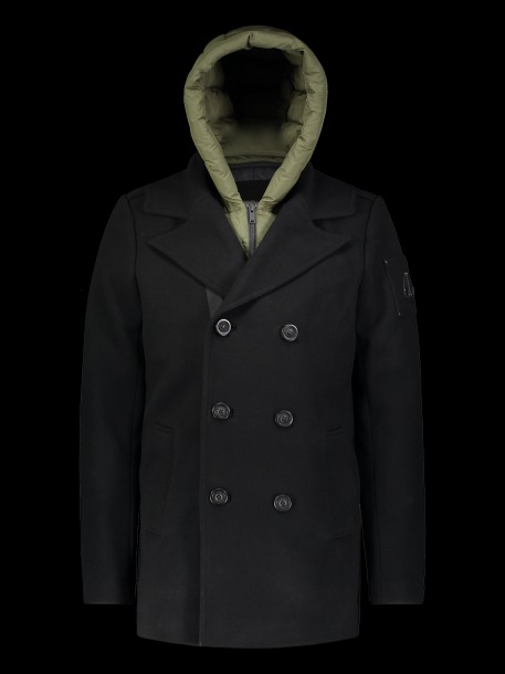 moose knuckles, stylish men's peacoat