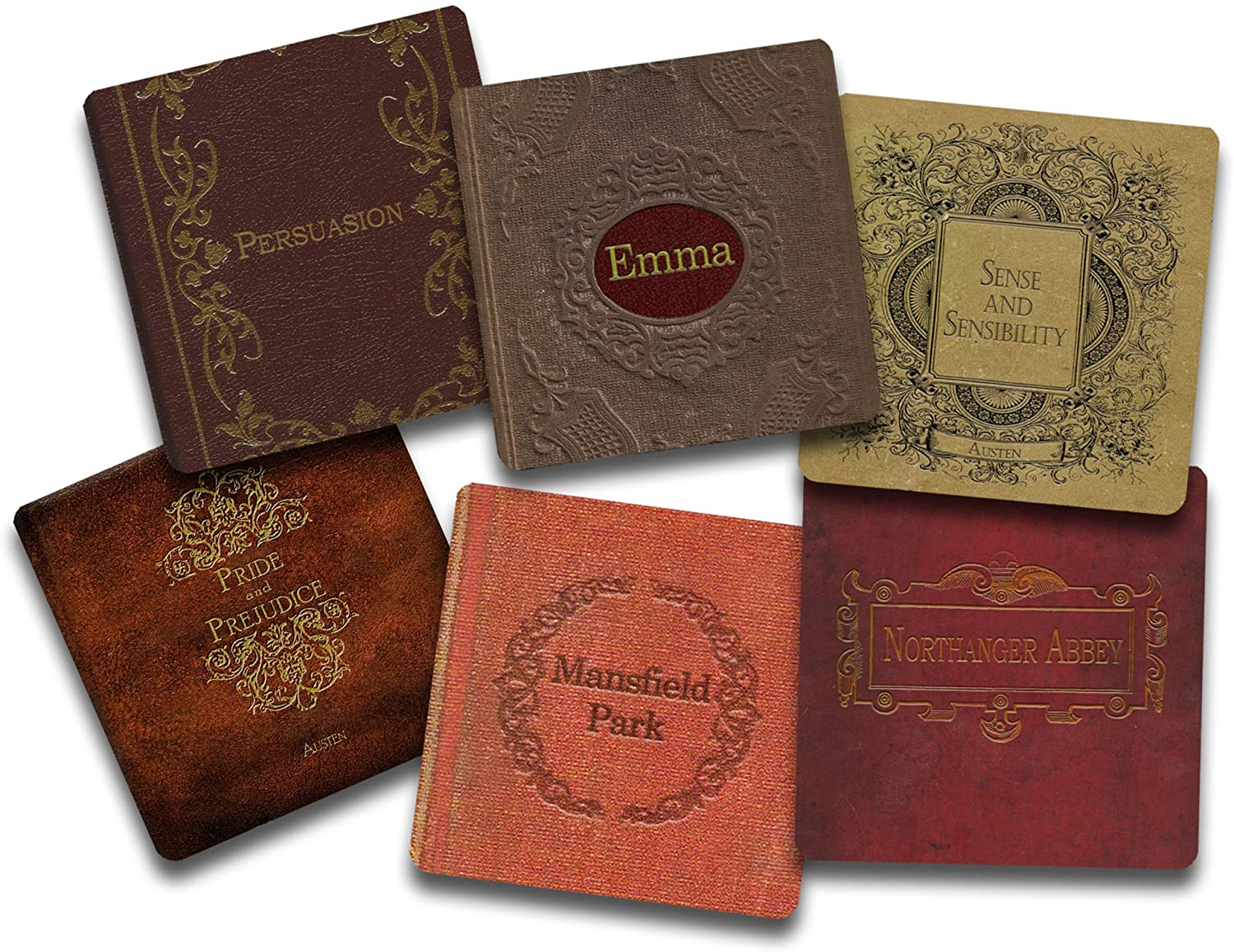 jane austen book coasters, best gift for book lovers