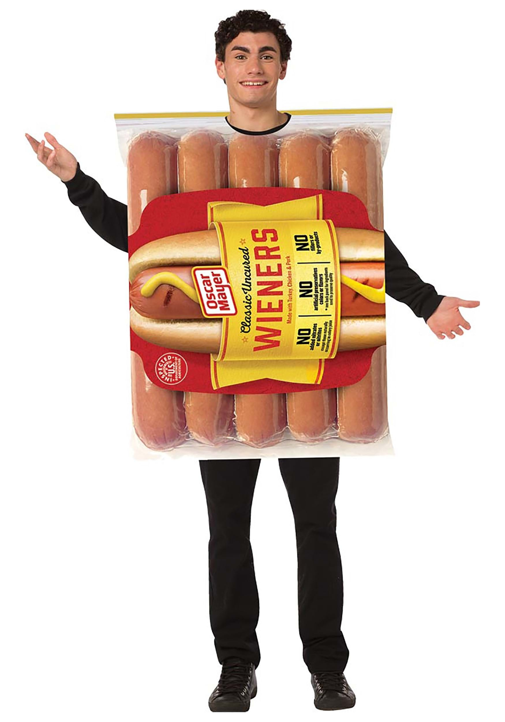 Oscar Mayer Hot Dog Package Adult Costume
