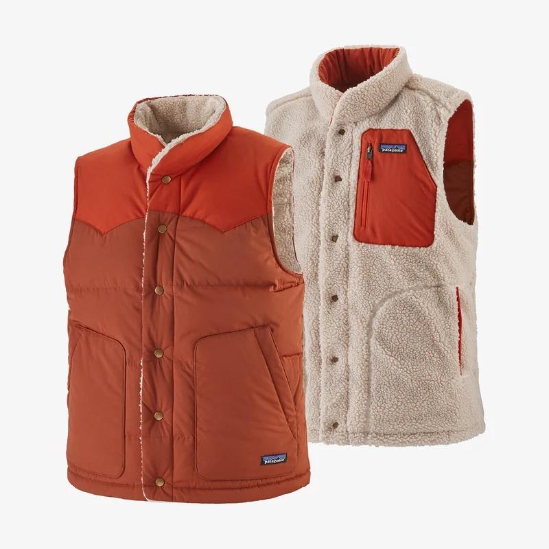 patagonia men's reversible down vest