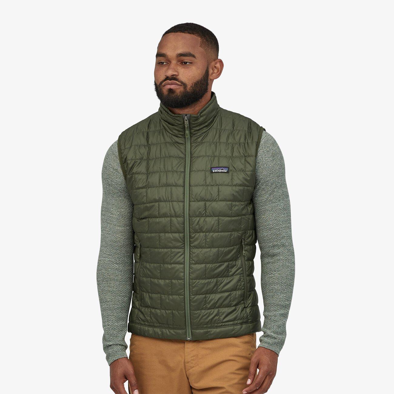 patagonia green nano puff men's vest