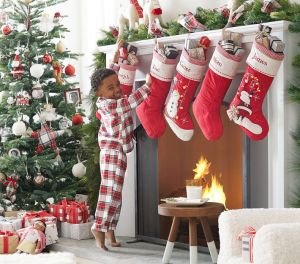 stocking quilted christmas pottery barn