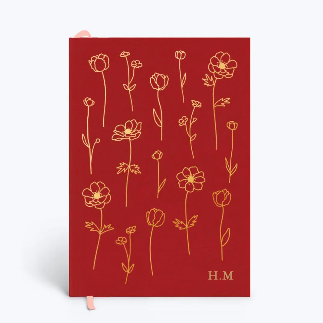 Papier Pressed Flowers Notebook