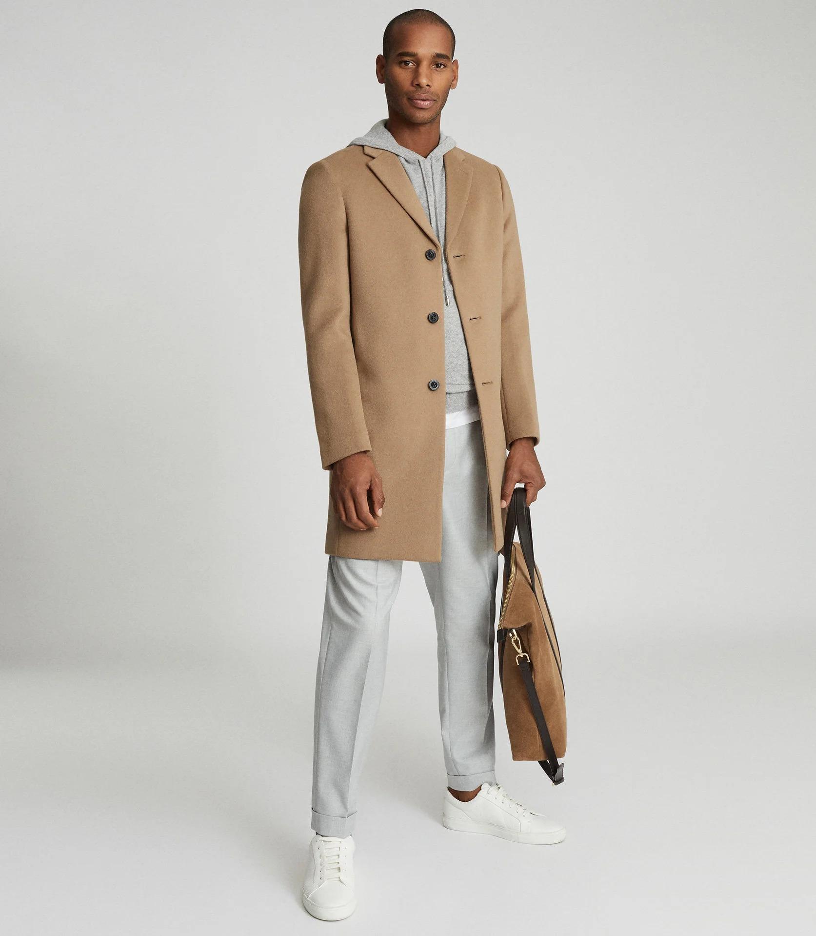 reiss gable beige camel coat