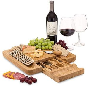 dynamic gear cheese board set, cheese knife set