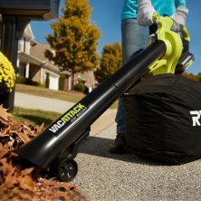 make quick work of cleaning up fallen leaves with a leaf vacuum