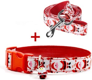 santa claus dog collar, gifts for dog lovers