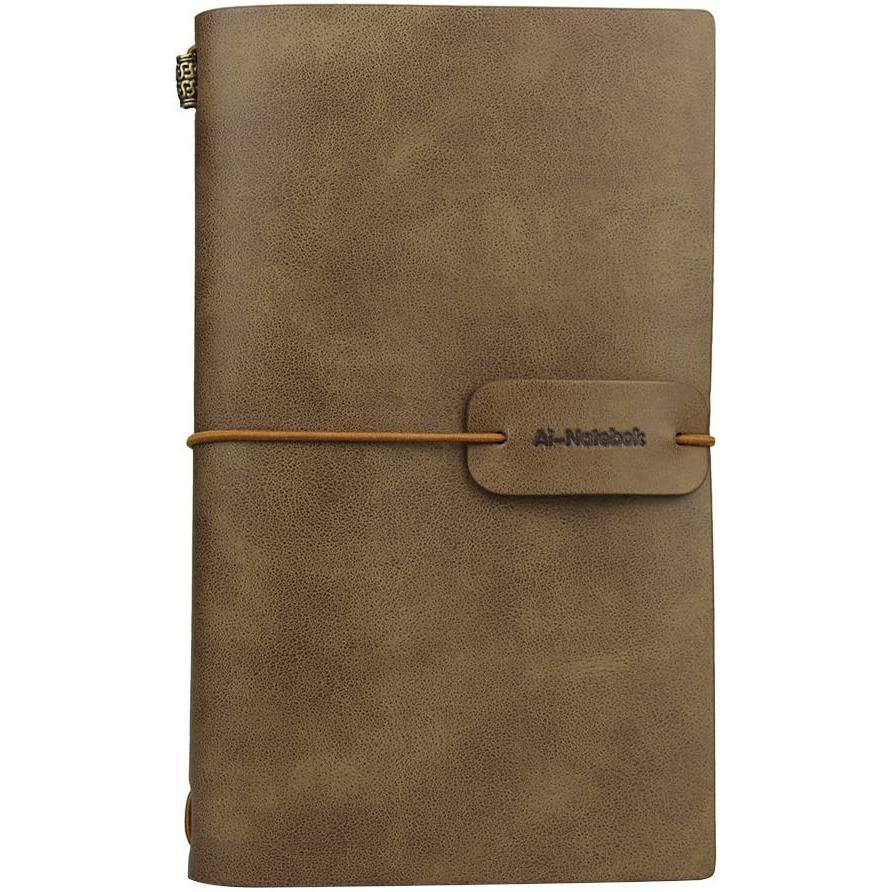 ai-natebok Travel Journal Leather Notebook