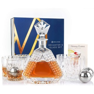 Nou Living Whiskey Decanter and Glass Set