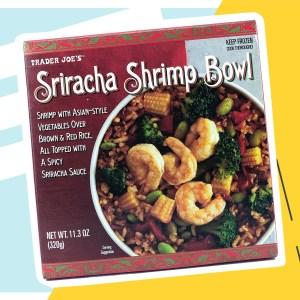 Trader Joe's Siracha Shrimp Bowl