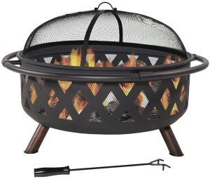 Sunnydaze outdoor fire pit, how to host a Halloween movie night