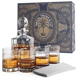 Regal Trunk Whiskey Decanter Set