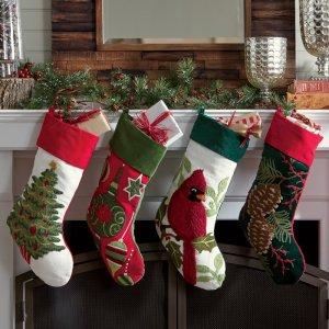 tufted Christmas stocking, Christmas stockings