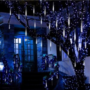 outdoor christmas lights - Twinkle Star Meteor Shower Rain Lights