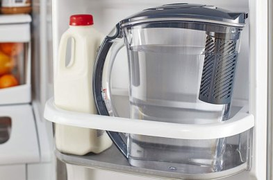 having a water pitcher in your fridge makes staying hydrated a breeze