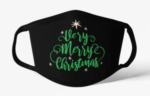 AkashaDesigns1 Merry Christmas Holiday Face Mask