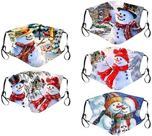 E-Scenery Christmas Print Washable Face Mask - cool christmas face masks