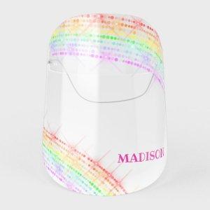 christmas face masks shield rainbow