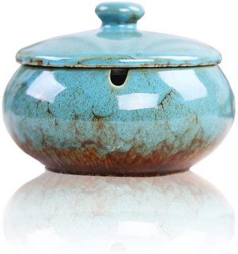 Lependor Ceramic Ashtray with Lid