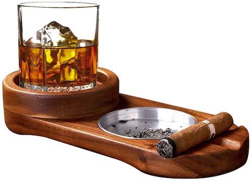 MDCGFOD Cigar Ashtray Whiskey Tray