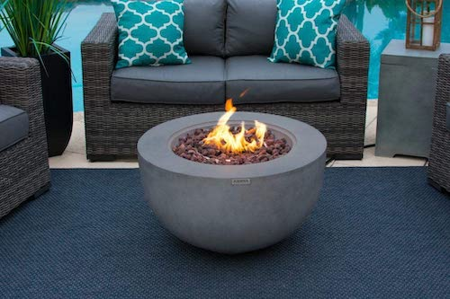 AKOYA Outdoor Essentials Concrete Propane Fire Pit Bowl