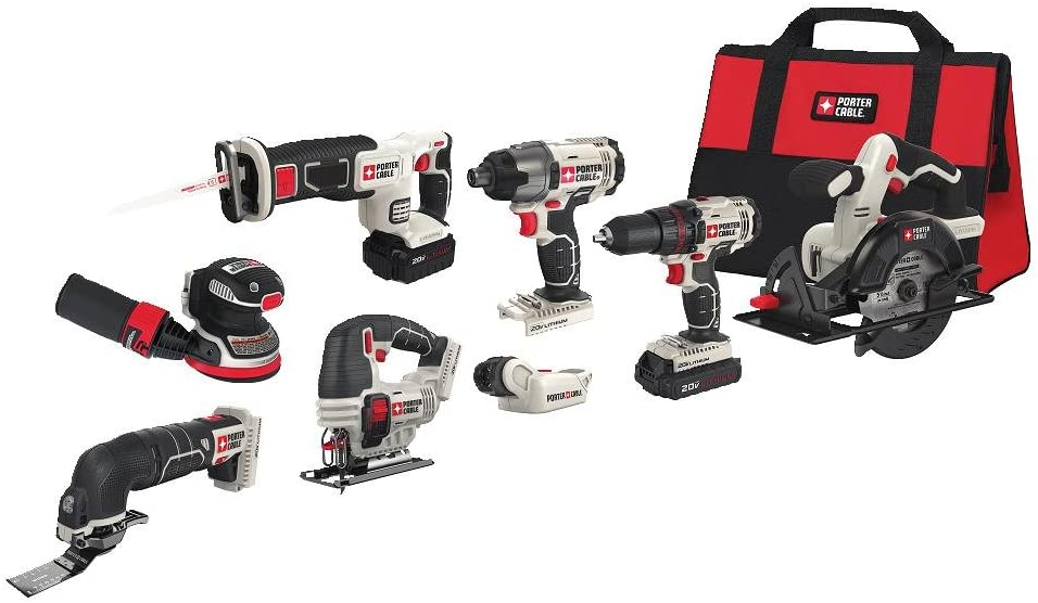 porter-cable 8-tool set, best power tool combo kits